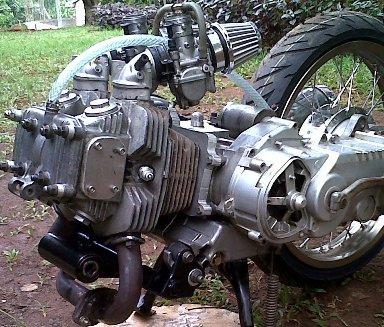 Sudah lama sekali Yamaha Nouvo 2 silinder ini nongol di MOTOR Plus